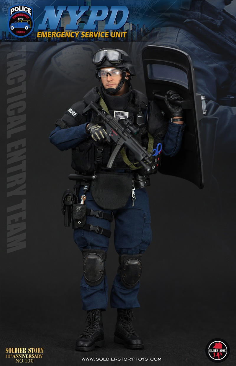 "c48f1874 Soldier Story 1/6 NYPD ESU ""TACTICAL ENTRY TEAM"" Action Figure SS100 ..."